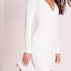 NWT missguided white long sleeve dress